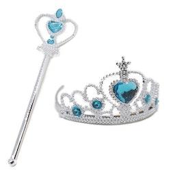 Frost Elsa Anna, krona stav smycken 2-delar