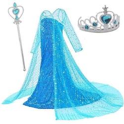 Frost Elsa Anna, klänning accessoarer barn strl.10