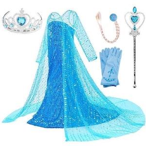 Frost Elsa Anna, klänning accessoarer barn strl.9