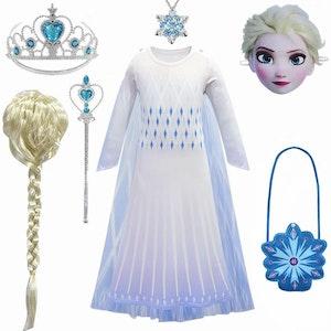 Frost Elsa Anna, klänning accessoarer barn strl.130