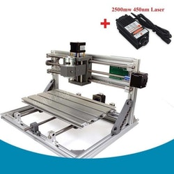 CNC 3018 router fräs, gravyrmaskin Laser 2500mw
