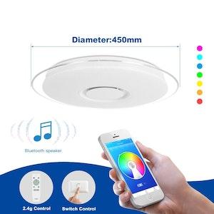 Modern LED-taklampa med Bluetooth-högtalare 36w