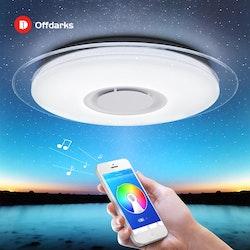 Modern LED-taklampa med Bluetooth-högtalare 48w