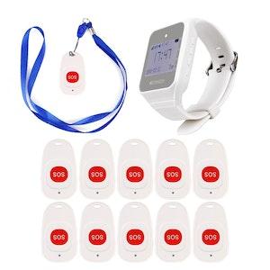 Retekess trådlöst trygghetslarm sjukvård 10-pack
