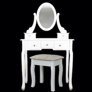 Yonntech modernt sminkbord med spegel pall