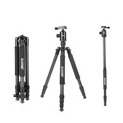 ZOMEi Z818C Bärbart kamerastativ svart