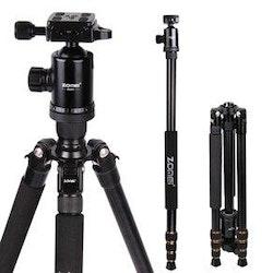 ZOMEi Z668 Bärbart kamerastativ svart