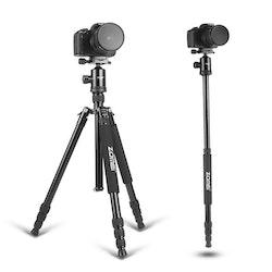 ZOMEi Z818 Bärbart resa kamerastativ svart