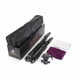ZOMEi Q555 Bärbart kamerastativ svart