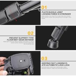 ZOMEi Q111 Bärbart lättvikt kamerastativ silver