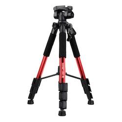 ZOMEi Q111 Bärbart lättvikt kamerastativ röd