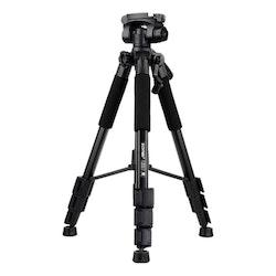 ZOMEi Q111 Bärbart lättvikt kamerastativ svart