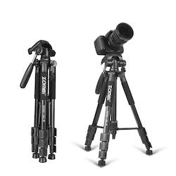 ZOMEi Z666 Bärbart resa kamerastativ svart