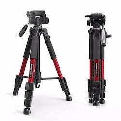 ZOMEi Z666 Bärbart resa kamerastativ röd
