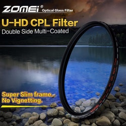 ZOMEi U-HD CPL optisk kamera filter 55mm