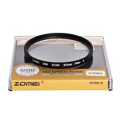 ZOMEi 8 punktlinje-stjärnfilter 67mm