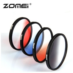 ZOMEi Färg Gradient filter Röd 49mm