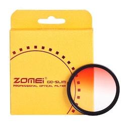 ZOMEi Färg Gradient filter Röd 77mm