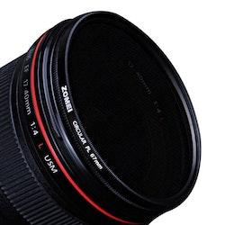 ZOMEi CPL polariserande kamerafilter 77mm