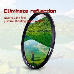 ZOMEi CPL Kamerafilter för Canon Nikon DSLR 62mm