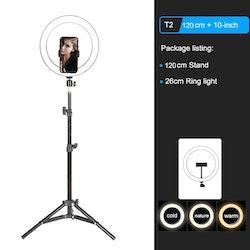 ZOMEi Dimbar LED-ringbelysning 1,2m