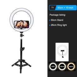 ZOMEi Dimbar LED-ringbelysning 0,5m
