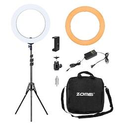 "ZOMEi Dimbar Studio LED-ringbelysning 14"""