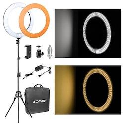 "ZOMEi Dimbar Studio LED-ringbelysning 18"""