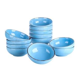Vancasso Navia nature-serien, skålar 12-delar blå