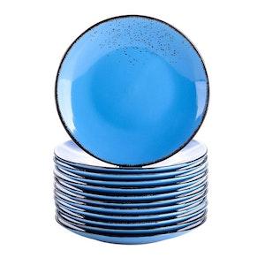 Vancasso Navia serien, Assiett 12-delar mörkblå