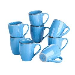 Vancasso Navia serien, mugg set 8-delar blå