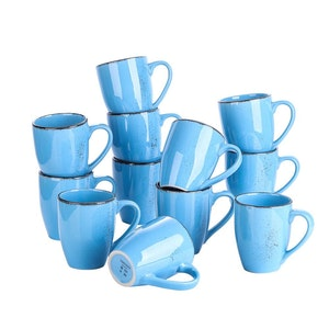 Vancasso Navia serien, mugg set 12-delar blå