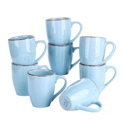 Vancasso Navia serien, mugg set 8-delar ljusblå