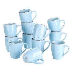 Vancasso Navia serien, mugg set 12-delar ljusblå
