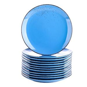 Vancasso Navia serien, tallrik 12-delar mörkblå