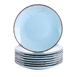 Vancasso Navia serien, Assiett 12-delar ljusblå