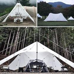 Naturehike 40D, Stort campingtält 8-10 pers vit