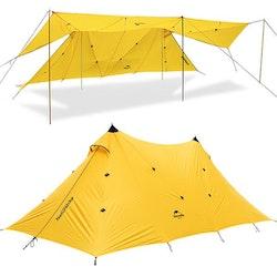 Naturehike 210T, Stort campingtält 8-10 pers gul