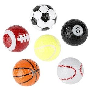 Mjuka gummi golfträning bollar 6-pack