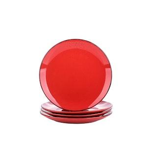 Vancasso Navia serien, Assiett 4-delar röd