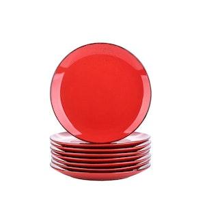Vancasso Navia serien, Assiett 8-delar röd