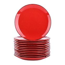 Vancasso Navia serien, Assiett 12-delar röd