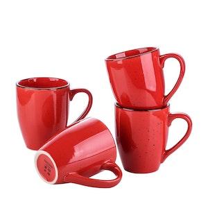 Vancasso Navia serien, mugg set 4-delar röd