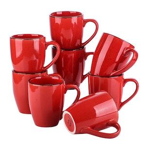 Vancasso Navia serien, mugg set 8-delar röd
