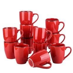 Vancasso Navia serien, mugg set 12-delar röd