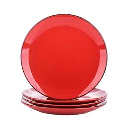 Vancasso Navia serien, tallrik 4-delar röd