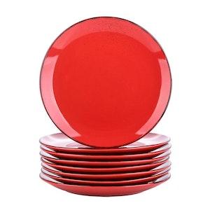 Vancasso Navia serien, tallrik 8-delar röd