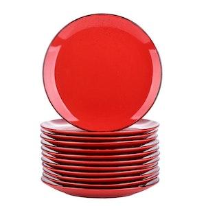 Vancasso Navia serien, tallrik 12-delar röd
