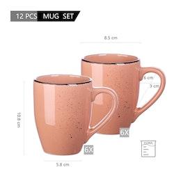Vancasso Navia serien, mugg set 12-delar rosa