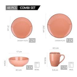Vancasso Navia serien, servis uppsättning 32-delar rosa